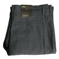Banana Republic Men's Size 34 X 34 Pants Slacks Flat Front Textured Cool Gray