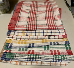10 pack variety - Classic Kitchen Tea Towel Cotton Stripped Pattern vintage look