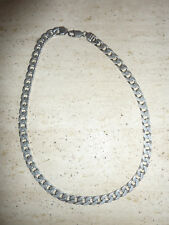 Vintage Heavy Hallmarked Silver Curb Link Chain Necklace 54g