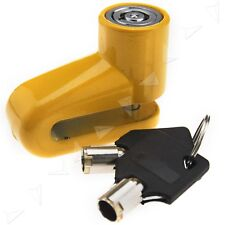 Motorcycle Bike Security Disc Lock Yellow Color with 2 Keys