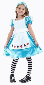 Girls Alice in Wonderland Fancy Dress Costume Kids Child Fairytale Book Week/Day