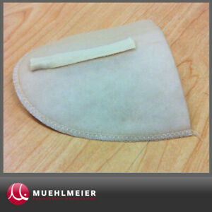1 Paar Schulterpolster Wattepolster Farbe beige für Blusen Blazer (2 Stück) NEU!