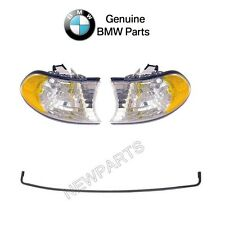 BMW E38 Set of 2 Turn Signal Lights with Windshield Moulding Trim Seal Genuine