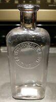 Antique B Thornton & Co Slug Plate Whiskey Bottle Flask Baltimore Maryland MD
