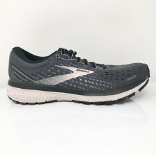 Brooks Womens Ghost 13 1203382A062 Gray Black Running Shoes Lace Up Size 9 2A