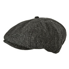 a023eaf3157 Toskatok Unisex Mens Ladies 8 Panel Herringbone Wool Blend Baker Boy Cap.