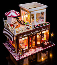 DIY Dolls House miniature 3D Wooden Puzzle Dollhouse +Cover Xmas Birthday Gift