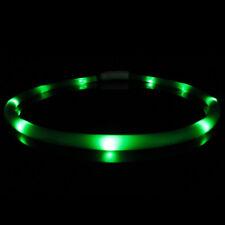 USB Rechargeable Pet Collar Flashing LED Light Band Luminous Dog Safety Belt