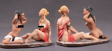 Tin toy soldiers  painted 54 mm girls