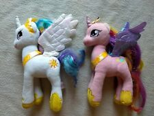 TY My Little Pony Princess Cadence & Celestia Sparkle Beanie Babies 9""