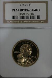 2005 S $1  PF 69 Ultra Cameo NGC Native American