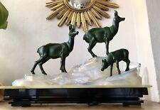 Lampe Sculpture Opalescent Art Deco Fritz Diller Era Max Le Verrier Fayral