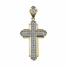 Cruz Diamante 45.7cm Collar en 14k oro amarillo 66ct. TW