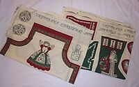 Victoriana Christmas Vtg Fabric Panels Crafts Apron Stockings Ornaments Hot Pads