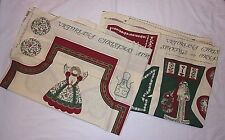 Victoriana Christmas Fabric Panels Vtg Crafts Apron Stockings Ornaments Hot Pads