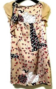 Moschino Cheap And Chic Olive Oyl Printed Silk Dress