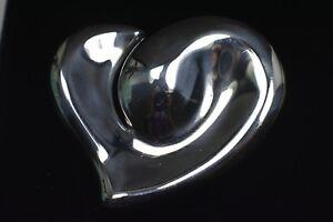 Tiffany & Co Elsa Peretti Lg. Heart Belt Buckle Sterling Silver 1978 Italy RARE!