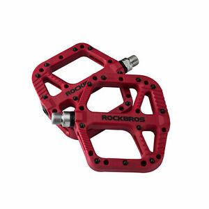 """ROCKBROS Mountain Bike Pedals Nylon Composite Bearing 9/16"""" MTB Bicycle Pedals"""
