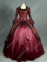 Renaissance Victorian Brocade Prom Dress Ball Gown Reenactment Clothing 143 XXXL