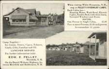 Meredith NH Pelley's Overnight Camps c1920 Postcard
