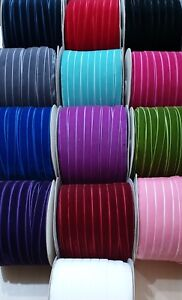 13mm (1/2 Inch) Luxury Velvet Ribbon 1, 2, 3, or 5  Metres Choice of Colours