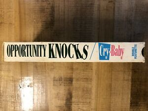 RARE OOP OPPORTUNITY KNOCKS & CRY BABY DOUBLE FEATURETTE PROMO VHS VIDEO TAPE