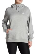 b7af5006975 NEW Nike Women s Funnel Neck Pullover Hoodie Plus Size - Heather Gray - 3XL