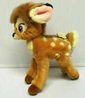 "VTG Gund Bambi With Butterfly Disney Plush Stuffed Animal 11"" Deer Posable Legs"