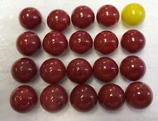 "20 Replacement Game Marbles for Hungry Hungry Hippo  9/16"" (19 Red,  1 Yellow)"