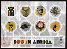 SOUTH AFRICA MNH 2012 NATIONAL SYMBOLS MINISHEET