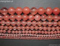 "Natural Red Cherry Quartz Gemstone Round Beads 2mm 4mm 6mm 8mm 10mm 12mm 15.5"""