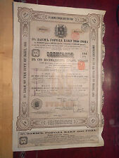 More details for city of baku bearer bond certificate 5% 189 roubles 1910