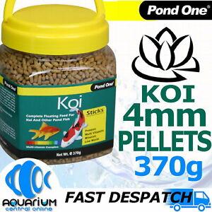 Pond One Koi Sticks Pellet Food 4mm 370g Bottle Goldfish Koi