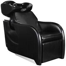 Salon Equipment Hair Washing Shampoo Backwash Bowl Unit Sink Chair SU-37BLK