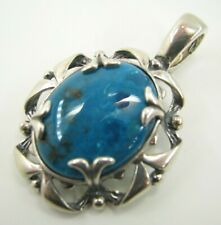 CAROLYN POLLACK Relios Sterling Silver CHRYSOCOLLA VIBRANT BLUE Pendant ENHANCER