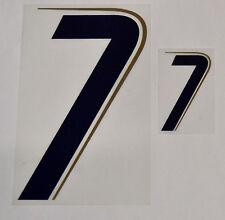 """Grafica UFFICIALE ITALIA MONDIALI 2006 Home Numero e Numerino """"7"""" blu"""