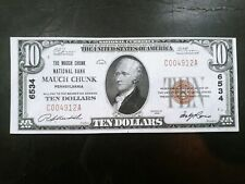 New listing 1929 $10 Mauch Chunk National Bank of Pennsylvania
