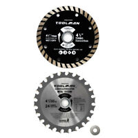 "2pc set 4-1/2"" 4.5"" 24T Circular Saw Blade Turbo Finish for DeWalt Bosch Makita"