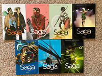 Graphic Novel Lot Saga Image Comics Vol 1 2 3 4 5 6 7 TPB Issues 1-42