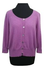M&S Cashmere Cardigan Size 20 Purple Cashmere Summer Casual Office Evening Party