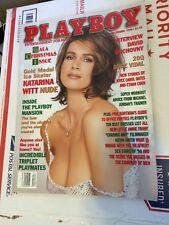 Playboy Magazine December 1998 Gold Medalist KATARINA WITT Nude! DAHM TRIPLETS