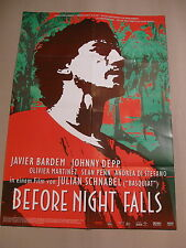 BEFORE NIGHT FALLS Filmplakat Plakat Poster JAVIER BARDEM Johnny Depp