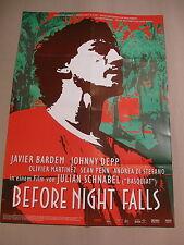 BEFORE NIGHT FALLS Filmplakat Plakat Poster JAVIER BARDEM Johnny Depp