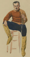 Clifford H. Thompson (1926-2017) - Mid 20th Century Watercolour, Man with Sword