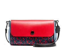 NWT Authentic Coach Reversible Floral Crossbody Clutch Handbag Purse