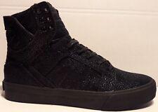 Supra Skytop HF Black High-Top Sneaker Gr. 40,5 Leder Freizeitschuhe Schuhe neu