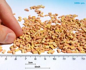 1000+ Miniature Bricks O scale 1/48 yellow mix model dollhouse railway diorama