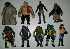 Lot Of 9 Teenage Mutant Ninja Turtles! Splinter, April, Leo, Mikey, Raph, &...