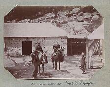 Pont d'Espagne Pyrénées France Photo amateur Tirage citrate vers 1900