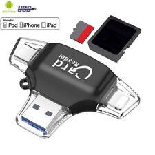 Lector de tarjeta de memoria 4 en 1 Adaptador Convertidor OTG Micro SD Android IOS PC Tipo C